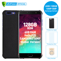 Ulefone T1 5.5 FHD Mobile Phone Android 7.0 Helio P25 Octa Core 6GB RAM 128GB ROM Fingerprint 4G Global Version Smartphone