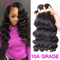 Brazilian Loose Wave 4 Bundles Brazilian Virgin Hair Loose Wave Virgin Hair Brazilian Hair Weave Bundles 100% Human Hair