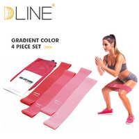 Elastici a resistenza di Gomma di Sport Fascia Elastica Gym Esercizio Lattice Attrezzature Per Il Fitness Set Rosa