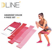 Resistance Bands Gum Sport Elastic Band Gym Exercise Latex Fitness Equipment Pink Set