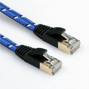 Image 3 - Nieuwe 0.5m1m1.5m2m 3 m, 5 m 10mCAT7 kabel Rj45 platte Ethernet LAN Netwerk Kabel Voor Router Switch goud plated gratis verzending