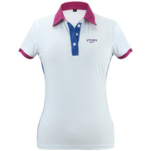 2017Good Quality New Arrival Custom White Women Golf Polo Shirt  Lady Golf Clothing Short Sleeve T-shirt Breathable Quick-drying