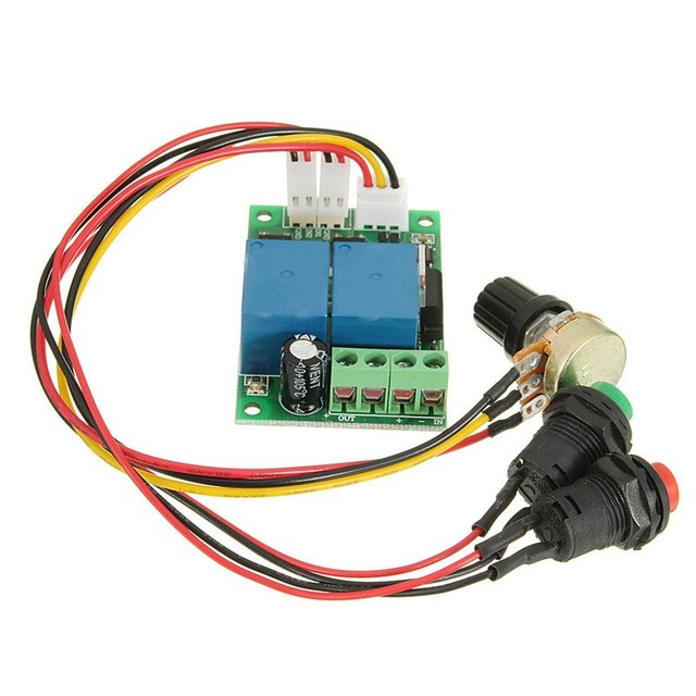 Electric Drive Pusher Linear Actuator PWM 6V-24V DC Motor Controller Motor Speed Regulator with Button and Positive Inversion