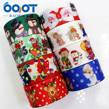 OOOT BAORJCT 177202 , 25MM Christmas Printed grosgrain ribbon,garment accessories hair accessories , DIY Handmade gift wrapping(China)