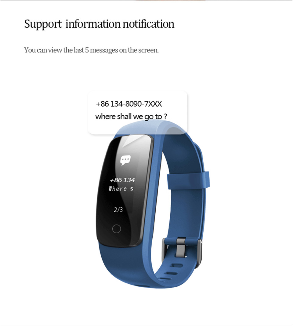 Teamyo ID107 Plus Sport Smart Band Heart Rate Monitor Smart Watch Guided Breathing Fitness Tracker Smart Bracelet Remote Camera 13
