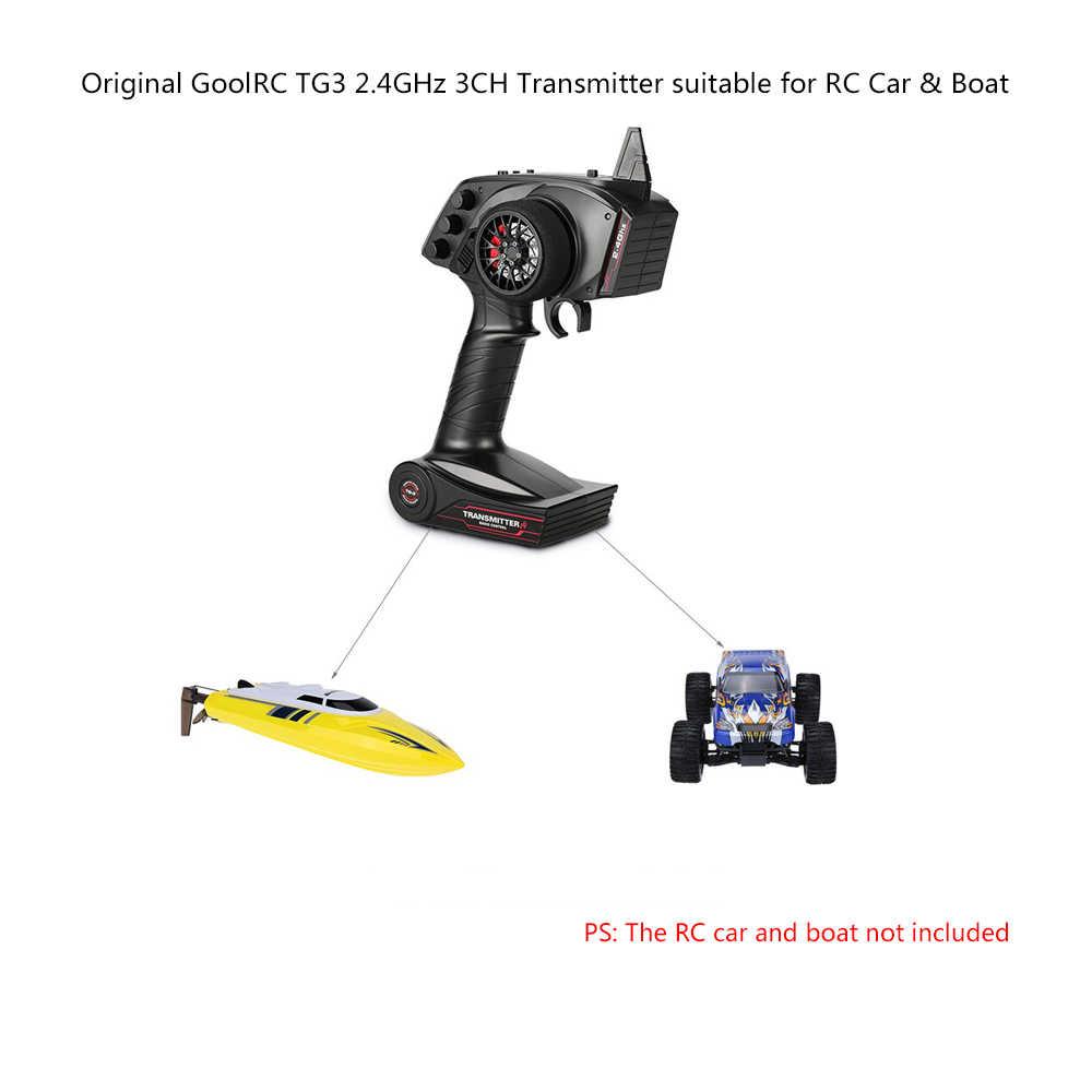 Transmisor de Control remoto de Radio Digital de alta calidad Original GoolRC TG3 2,4G 3CH con receptor para coche RC barco