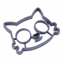 1 pcs Kitchen Silicone Cats Egg Shaper Cats Fried Eggs Mould Cute Interesting Mould 2017 New Arrival