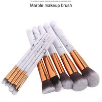 10Pcs Set Makeup Brushes Kit Marble Pattern Professional Blush Eye Shadow Marbling Beauty Make Up Brush