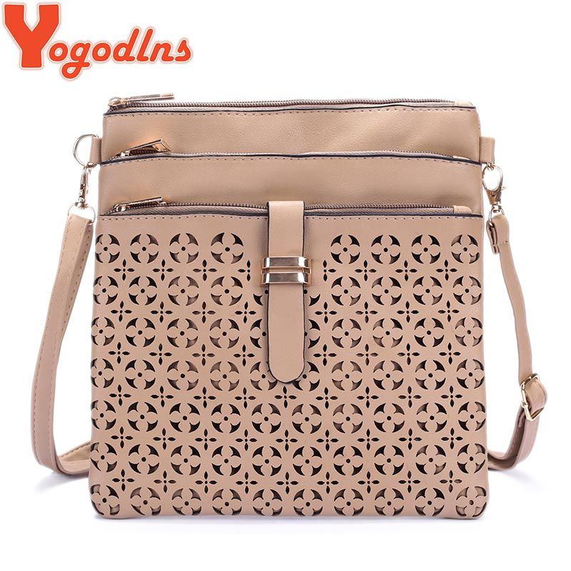 Yogodlns fashion shoulder bags hollow handbags famous brand design messenger bag