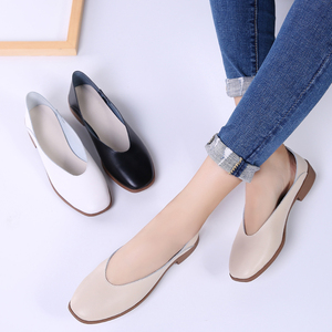 Image 5 - STQ 2020 Women Autumn Flats Shoes Genunie Leather Moccasin Shoes Slip On Sapato Feminino Ladies Casual Loafers Woman Shoes 2901