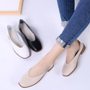 Image 5 - STQ 2020 femmes automne chaussures plates Genunie en cuir mocassin chaussures Slip On Sapato Feminino dames décontracté mocassins femme chaussures 2901