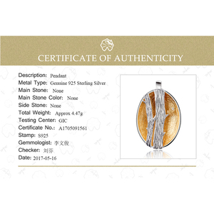 Image 5 - Lotus Fun pendentif en argent Sterling 925, bijou fin fait à la main, Design doiseaux sur Branches, pendentif sans collier pour femmes