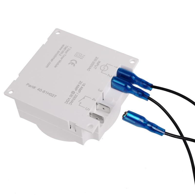 12/24 Formato 12 V DC Timer Switch 7 giorni 24 ore programmabile - Strumenti di misura - Fotografia 6