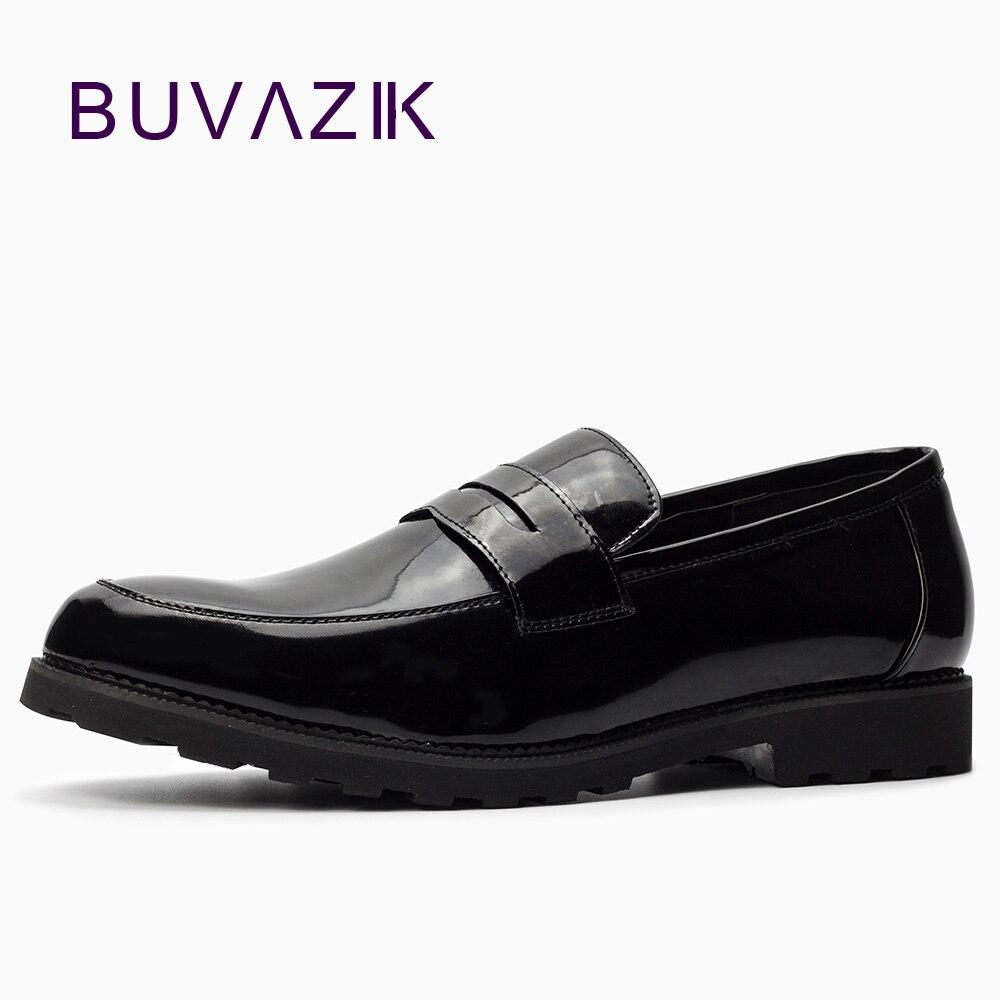 BUVAZIK Men Business Leather Shoes Men Oxfords Classic Fashion Formal Flats Comfortable Office Dress Shoes Big Size 45 46