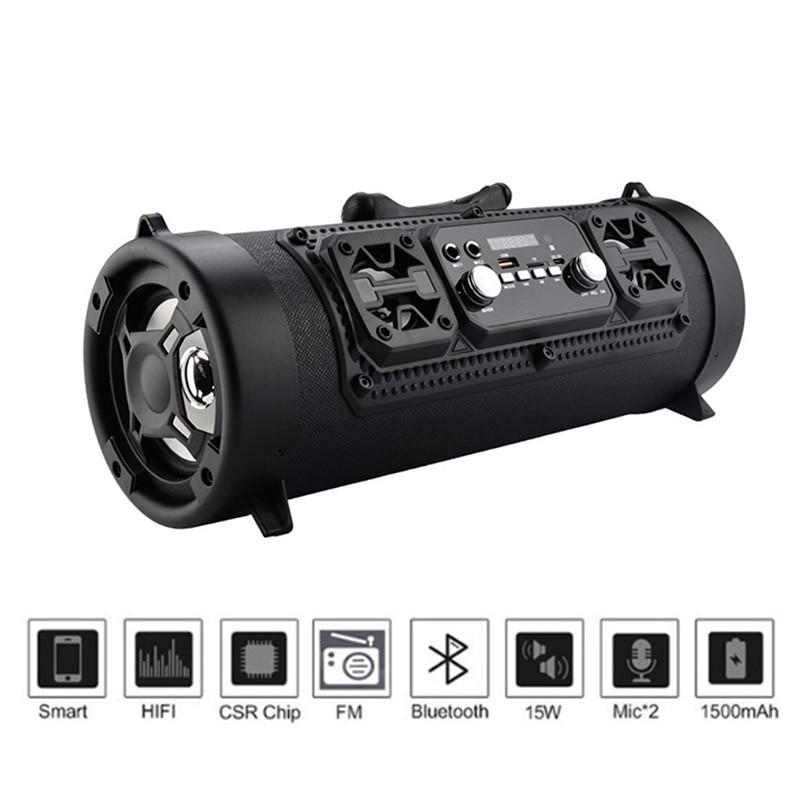 Sans fil Bluetooth étanche Portable haute puissance 15 W musique baril haut-parleur pour extérieur LSMK99