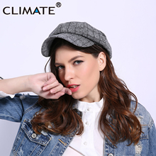 Hat Octagonal-Hat Newsboys Winter Women's Woman Fashion Cotton Plaid CLIMATE for Girls