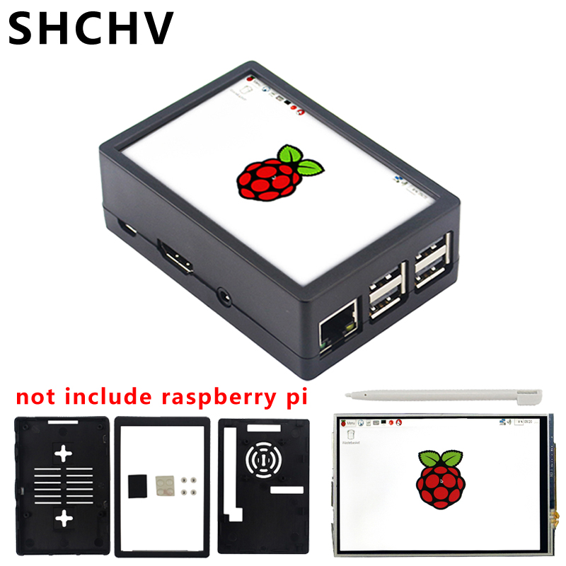 For Raspberry Pi 3 Touch Screen 3.5 Inch TFT LCD 480*320 GPIO Display Monitor With ABS Case For Raspberry Pi 3 Model B 3B Plus