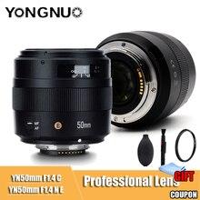 YONGNUO YN50mm объектив YN 50 мм F1.4 стандартное фиксированное фокусное расстояние объектива большой апертурой Автофокус Объектив для Canon EOS 70D 5D2 5D3 600D DSLR Камера