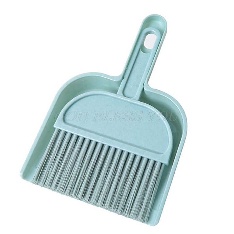 Mini Cleaning Brush and Dustpan Set Desktop Sweep Broom Cleaning Tools LO