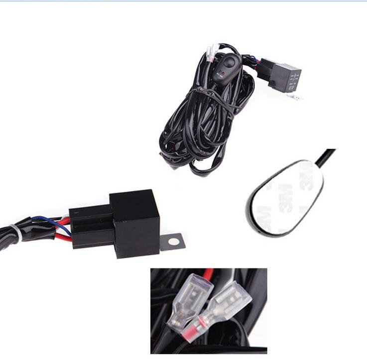 universal 40a 12v switch relay fuse wiring harness kit for led light rh aliexpress com