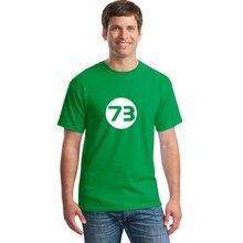 Camiseta de manga corta para hombre, camiseta con número 73, camisetas de moda para hombre, Camisetas estampadas Tumblr 2018
