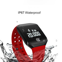 Купить с кэшбэком Smart Wristband Blood Pressure Sleep Tracker Smart Wristband IP68 Smart Watch Waterproof Fitness Bracelet Tracker Bluetooth