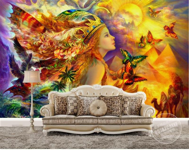 где купить 3D Wallpaper Custom Photo Wallpaper Butterfly Beauty Oil Painting Living Room Sofa TV Background Mural Wall Paper For Walls 3D дешево