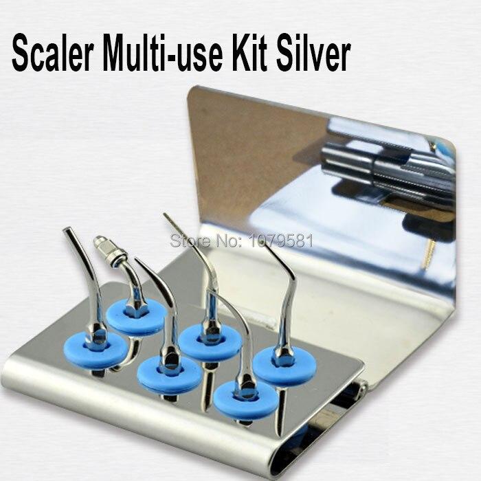 1 set EMUKS Scaler for EMS WOODPACKER Scaler Multi-use Kit Silver medical stainless steel Multi-use Kit Gold tooth tool nmukg scaler multi use kit gold for nsk varios series
