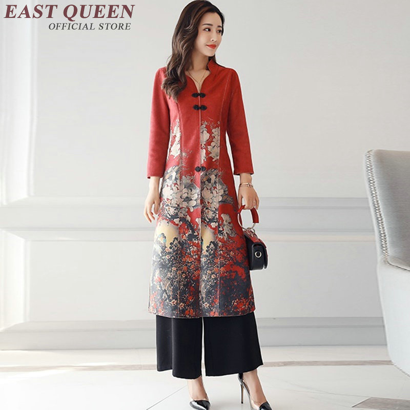 54aa3761f Traditional chinese clothing for women pantsuit womens two piece sets 2018  cheongsam qipao Oriental clothing AA3123