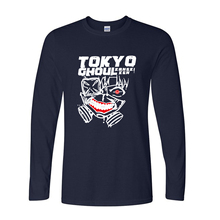 Tokyo Ghoul Anime Printed Men's T-Shirts Harajuku T Shirt For Men 2017 New Long Sleeve O Neck Cotton Casual Top Tee