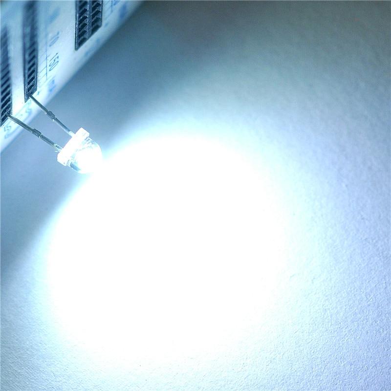 1000pcs F5 5mm RED Straw Hat Superbright LED Light LED lamp NEW S8