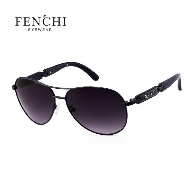 1ed3f1c326 FENCHI Sunglasses Women Metal Hot Rays Glasses Driving Pilot Mirror Fashion  Men Design New Sunglasses High Quality