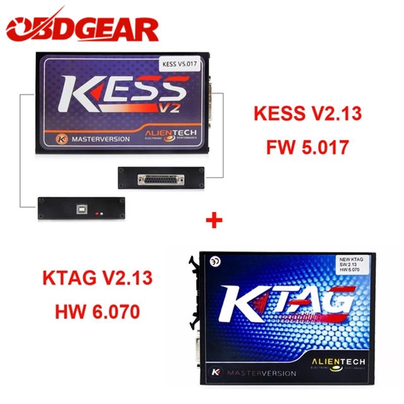 цена на Kess V2 V2.3 5.017 OBD2 Manager Tuning Kit Master Ver+ KTAG V6.070 ECU Programming Tool Full Function Kess V2 Free ECM Titanium