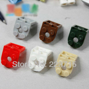 Free Shipping!50pcs*Round Plate 2x2 w. Angle* DIY enlighten block bricks,Compatible With Assembles Particles