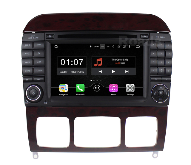2 din 1024*600 Android 5.1.1 Dvd-плеер Автомобиля для Mercedes/Benz S class W215 W220 S280 S500 S430 с Wi-Fi GPS Радио quad core