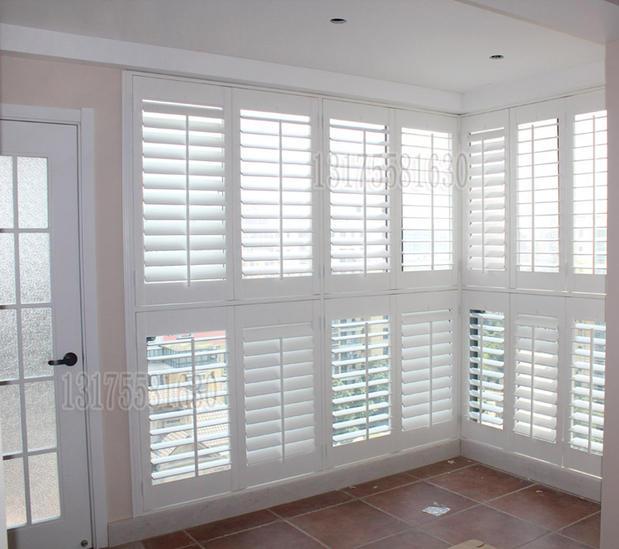 American Style Solid Wood Venetian Blinds Shutters Activity Ventilation Window Shutter Door