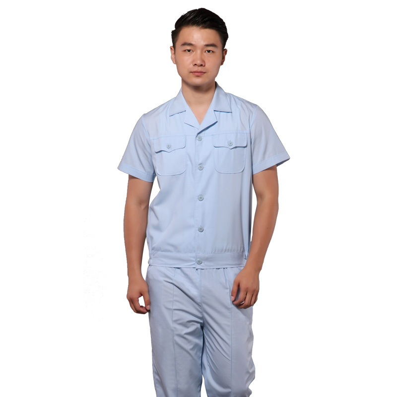 (10 Set) Doctors Take Short Sleeve Smock Nurse Physician Uniform White Summer Wear Bust Brief Paragraph Coat Nurse Pants Uniform