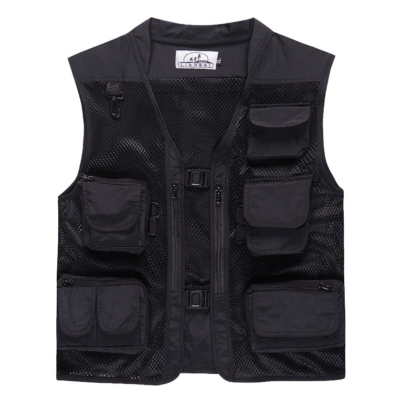 8 Styles Summer Outdoor Men Camouflage Mesh Photography Vest Multi-pocket portable Breathable Quick Dry Light Fishing Vest pocket