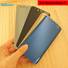 For Huawei Honor 9 Back Glass Battery Cover Rear Door Housing Case For Huawei Honor 9 Lite Back Glass Cover Panel Replacement back glass for huawei honor 8 glass back cover housing battery cover case for honor8 back glass replacement parts