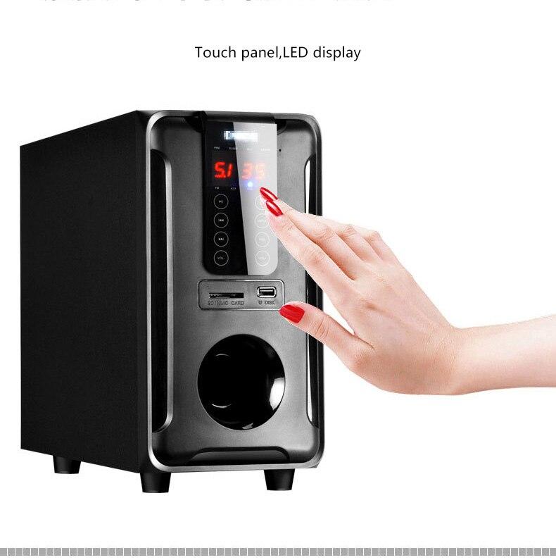 Système de haut-parleurs Home cinéma 5.1 canaux, Bluetooth \ USB \ SD \ FM Radio télécommande écran tactile, Dolby Pro logique son Surround - 3