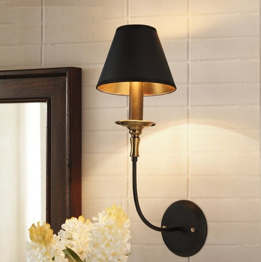 American Village Creative Fibric Wall Sconce Bedside LED Wall Lamp Vintage Wall Light Fixtures Indoor Lighting Lampara Pared modern acrylic led wall lights bedroom bedside wall lamp lampara de pared bed room decoration lighting wall sconces