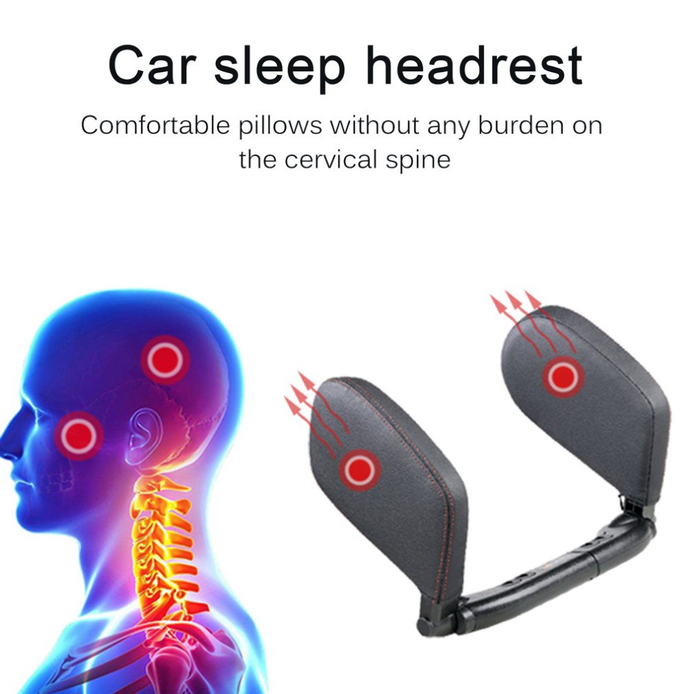 Universal Headrest Car Seat Head and Neck Support Pillow Leather Neck Shoulder Pillow Cushion Car Styling For Sleeping chic quality flamingo and lotus pattern flax pillow case(without pillow inner)