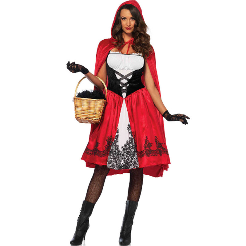 plus size sexy Christmas Masquerade Party Dress Halloween Adult Little Red Riding Hood Disney Princess Costume Bar show clothing image