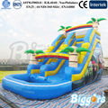 Inflatable Biggors Inflatable Pool Slide With Tree Decoration For Amusement Park