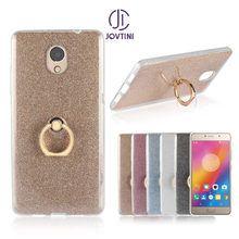 Case For Lenovo P2 Soft TPU with Finger Ring Stand Glitter cover sequins shell For Lenovo Vibe P2 P 2 P2C72 Back Cover Coque(China)