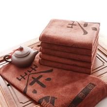 Глубокий цвет ткани Чай полотенца Кофе цвет полотенце китайский иероглиф полотенца хлопковое волокно микрофибры Очистка инструмента