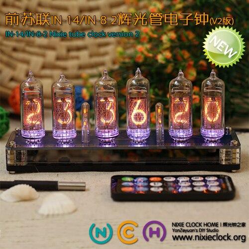 Обновления V2 версия бывшего Советского Союза в-14 Glow трубки электронные ламповые часы за QS18-12