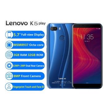 Lenovo K5 Play 3GB RAM 32GB ROM 4G LTE Mobile Phone 5.7'' Snapdragon MSM8937 Octa Core Rear Camera 13MP+2MP Front Camera 8MP 2