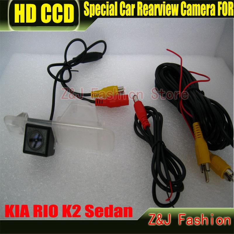 Factory Selling HD CCD Car rear view Camera Backup Camera for Kia K2 Rio Camera CCD HD chip night vision waterproof camera ZJ