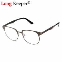 Long Keeper Classic Mens Women Glasses Frame Brand Designer Woman Glasses Men Female Optical Frames Clear lens Metal Eyewares